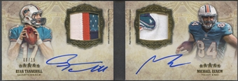2012 Topps Five Star #FSFDAPTE Ryan Tannehill & Michael Egnew Rookie Dual Patch Auto #06/15