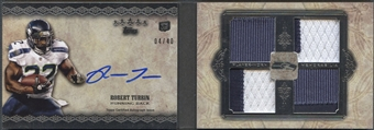 2012 Topps Five Star #FSFA4RTU Robert Turbin Rookie Quad Patch Auto #04/40