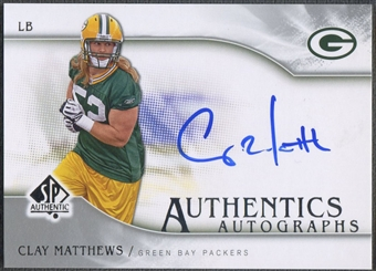 2009 SP Authentic #SPCM Clay Matthews Rookie Auto