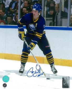 Phil Housley Autographed Buffalo Sabres Throwback 8x10 Hockey Photo