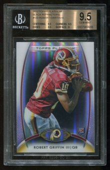 2012 Topps Platinum Black Refractors Robert Griffin III RC Rookie BGS 9.5 Gem Mint