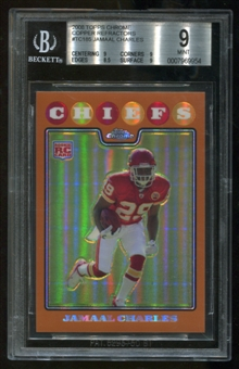 2009 Topps Chrome Cooper Refractors Jamaal Charles BGS 9 Mint