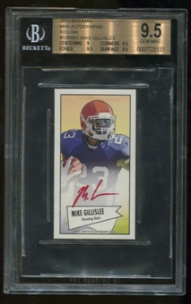 2013 Bowman Mini Autographs Red Ink #52BMGI Mike Gillislee BGS 9.5 Gem Mint