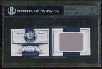 2012 Panini National Treasures Booklet Tim Lincecum Serial #50/99 BGS 9 Mint