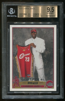 2003/04 Topps #221 Rookie Lebron James RC BGS 9.5 Gem Mint