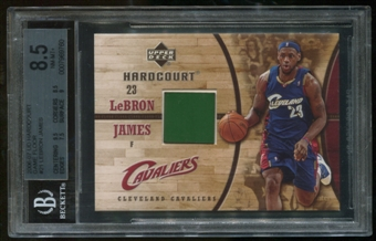 2006/07 Upper Deck #21 Lebron James Game Floor From High School Game BGS 8.5