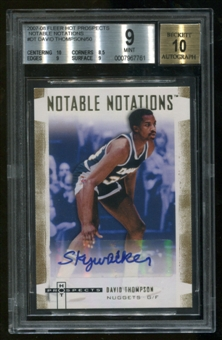 "2007/08 Fleer Hot Prospects Serial #1/50 David Thompson Auto ""Skywalker"" BGS 9 Auto 10"
