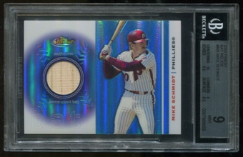 2003 Topps Finest #MS Mike Schmidt Bat Relics BGS 9 Mint