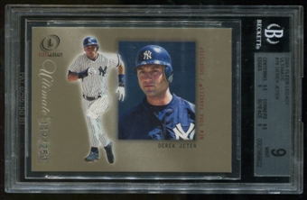 2001 Fleer Legacy Ultimate #78 Derek Jeter BGS 9 Mint Serial #112/250