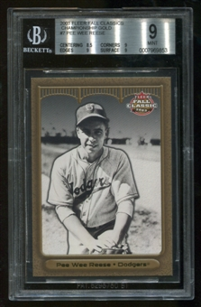 2003 Fleer Fall Classics #7 GOLD Pee Wee Reese Championship BGS 9 Mint Ser #47/50