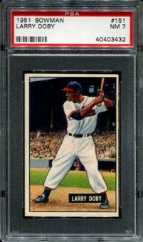 1951 Bowman Baseball #151 Larry Doby PSA 7 (NM) *3432