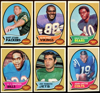 1970 Topps Football Complete Set (EX+)