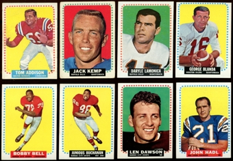 1964 Topps Football Complete Set (VG-EX)