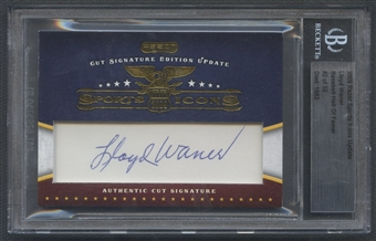2009 Razor Sports Icons Update Lloyd Waner Cut Auto #02/32