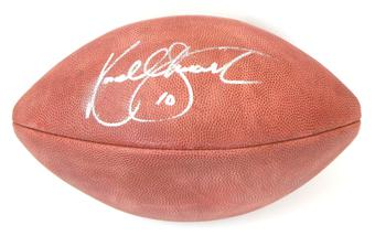 Kordell Stewart Autographed Pittsburgh Steelers Official NFL Wilson Ball (Mounted Mem)