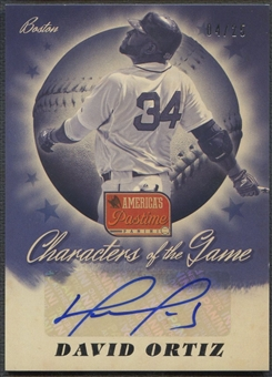 2013 Panini America's Pastime #3 David Ortiz Characters of the Game Auto #04/25