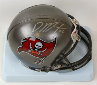 Doug Martin Autographed Tampa Bay Buccaneers Mini Helmet (Leaf Authentics)