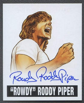 2012 Leaf Originals #RRP Rowdy Roddy Piper Auto