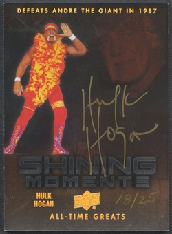 2012 Upper Deck All-Time Greats #SMHH4 Hulk Hogan Shining Moments Defeats Andre the Giant Auto #18/25