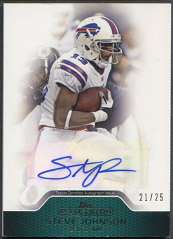 2011 Topps Precision #PCVASJ Steve Johnson Green Auto #21/25