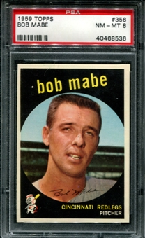 1959 Topps Baseball #356 Bob Mabe PSA 8 (NM-MT) *8536