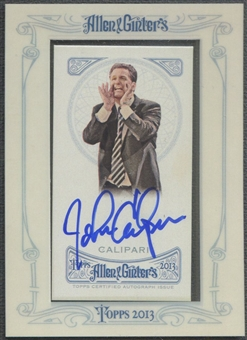 2013 Topps Allen and Ginter #JC John Calipari Auto