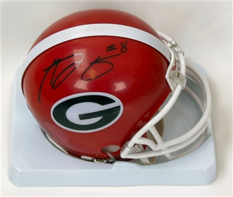 AJ Green Autographed University of Georgia Bulldogs Mini Helmet (Schwartz COA)