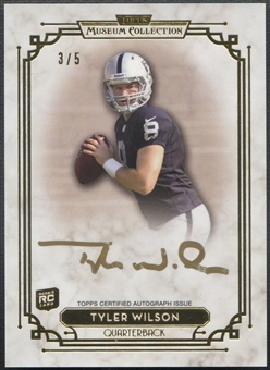 2013 Topps Museum Collection #SSATW Tyler Wilson Signature Series Rookie Gold Ink Auto #3/5