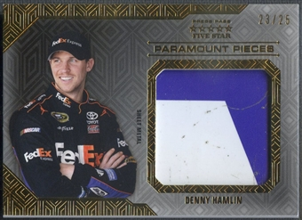 2014 Press Pass Five Star #PPDH Denny Hamlin Paramount Pieces Gold Sheet Metal #23/25