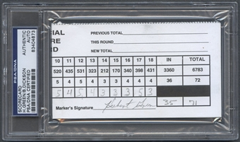 Hubert Green & Bob Dickson Scorecard Auto PSA DNA