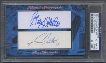 2013 Historic Autograph Five Boroughs Graig Nettles & Fred Stanley Cut Auto #4/4 PSA DNA
