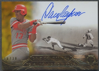 2014 Topps Tribute #TTDC Dave Concepcion Tribute Traditions Gold Auto #16/30