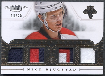 2013/14 Dominion #CRBJ Nick Bjugstad Complete Rookie Jersey Patch #16/25