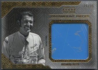 2014 Press Pass Five Star #PPRP Richard Petty Paramount Pieces Gold Sheet Metal #25/25