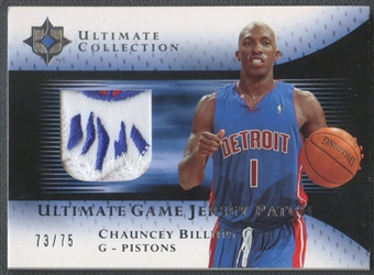 2005/06 Ultimate Collection #UJPCB Chauncey Billups Patch #73/75