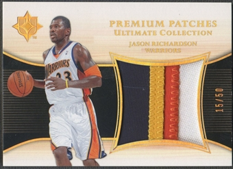 2005/06 Ultimate Collection #PPJR Jason Richardson Premium Patch #15/50