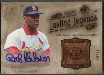 2005 SP Legendary Cuts #BG Bob Gibson Lasting Legends Auto #18/25