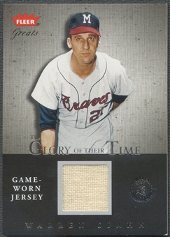 2004 Greats of the Game #WS Warren Spahn Glory of Their Time Game Used Jersey