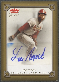2004 Greats of the Game #LB Lou Brock Auto