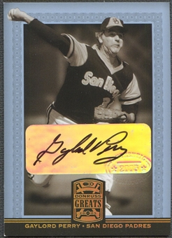 2005 Donruss Greats #29 Gaylord Perry Signature Gold HoloFoil Auto