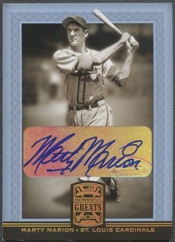 2005 Donruss Greats #56 Marty Marion Signature Gold HoloFoil Auto