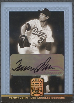 2005 Donruss Greats #83 Tommy John Signature Gold HoloFoil Auto