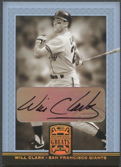 2005 Donruss Greats #87 Will Clark Signature Gold HoloFoil Auto