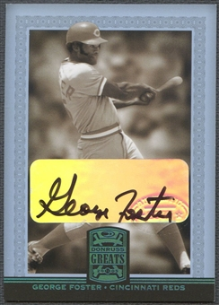 2005 Donruss Greats #31 George Foster Signature Platinum HoloFoil Auto