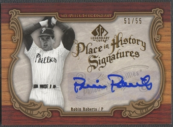 2006 SP Legendary Cuts #RR Robin Roberts Place in History Auto #51/55