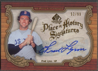 2006 SP Legendary Cuts #FL Fred Lynn Place in History Auto #52/99