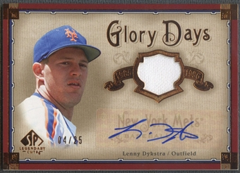 2005 SP Legendary Cuts #LD Lenny Dykstra Glory Days Material Jersey Auto #04/25
