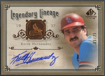 2005 SP Legendary Cuts #KH Keith Hernandez Legendary Lineage Auto #05/25