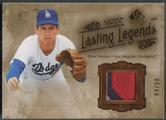 2005 SP Legendary Cuts #DS Don Sutton Lasting Legends Patch #04/50