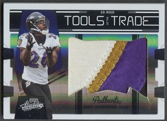 2009 Absolute Memorabilia #65 Ed Reed Tools of the Trade Black Spectrum Patch #34/50
